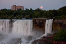 Moon over the falls